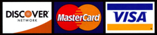 Credit Card Logos - Visa, Mastercard and Discover